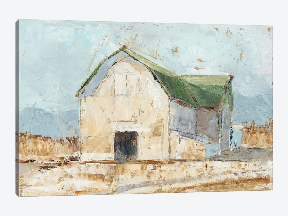 Whitewashed Barn IV by Ethan Harper 1-piece Canvas Artwork