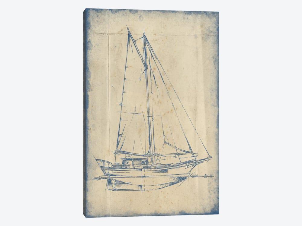 Yacht Blueprint III by Ethan Harper 1-piece Art Print