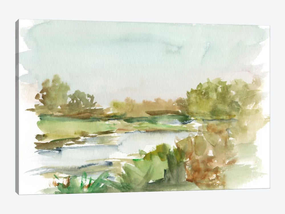 Impressionist Watercolor I by Ethan Harper 1-piece Canvas Artwork
