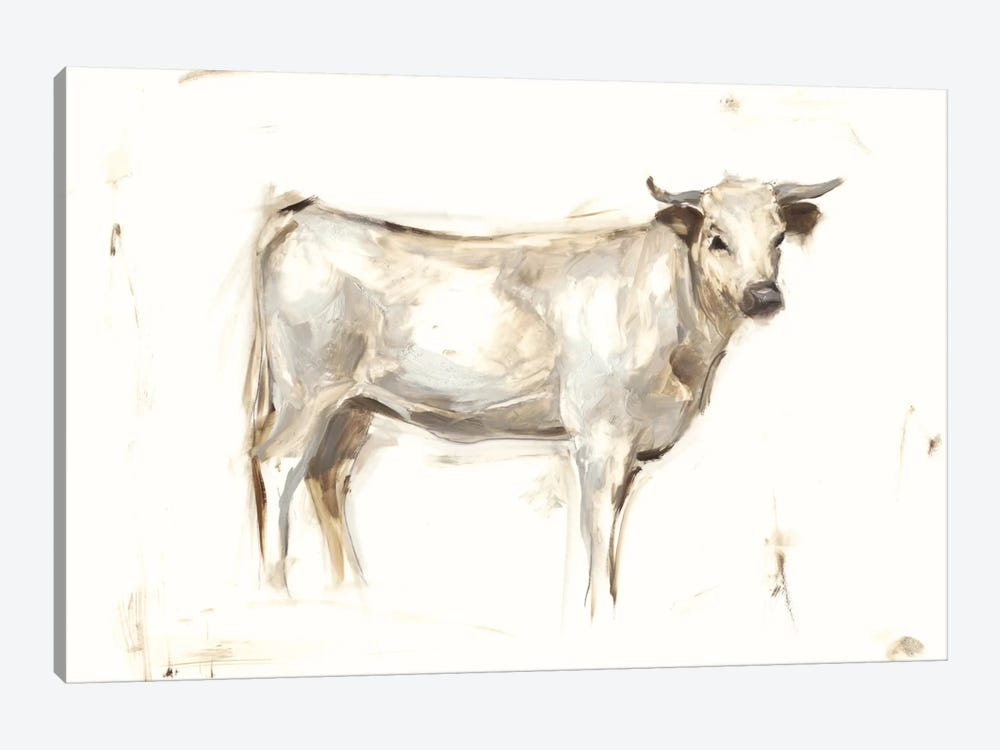 White Cattle I by Ethan Harper 1-piece Canvas Wall Art
