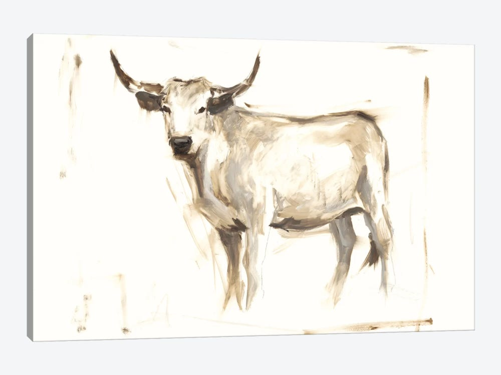 White Cattle II by Ethan Harper 1-piece Art Print