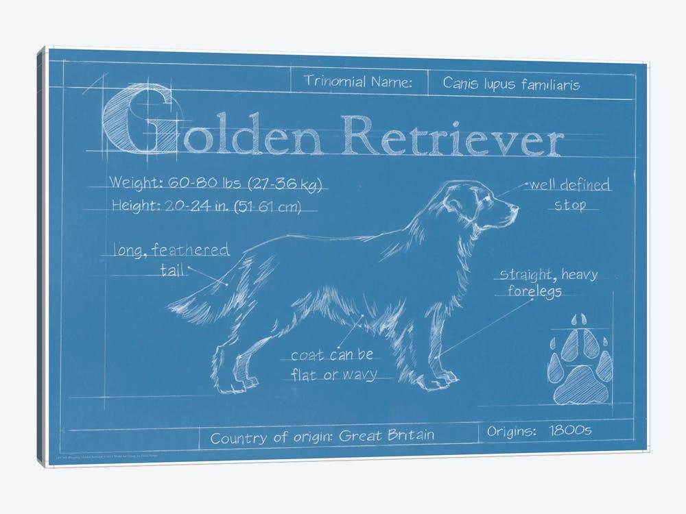 Blueprint of a golden retriever art print by ethan harper icanvas blueprint of a golden retriever by ethan harper 1 piece art print malvernweather Images