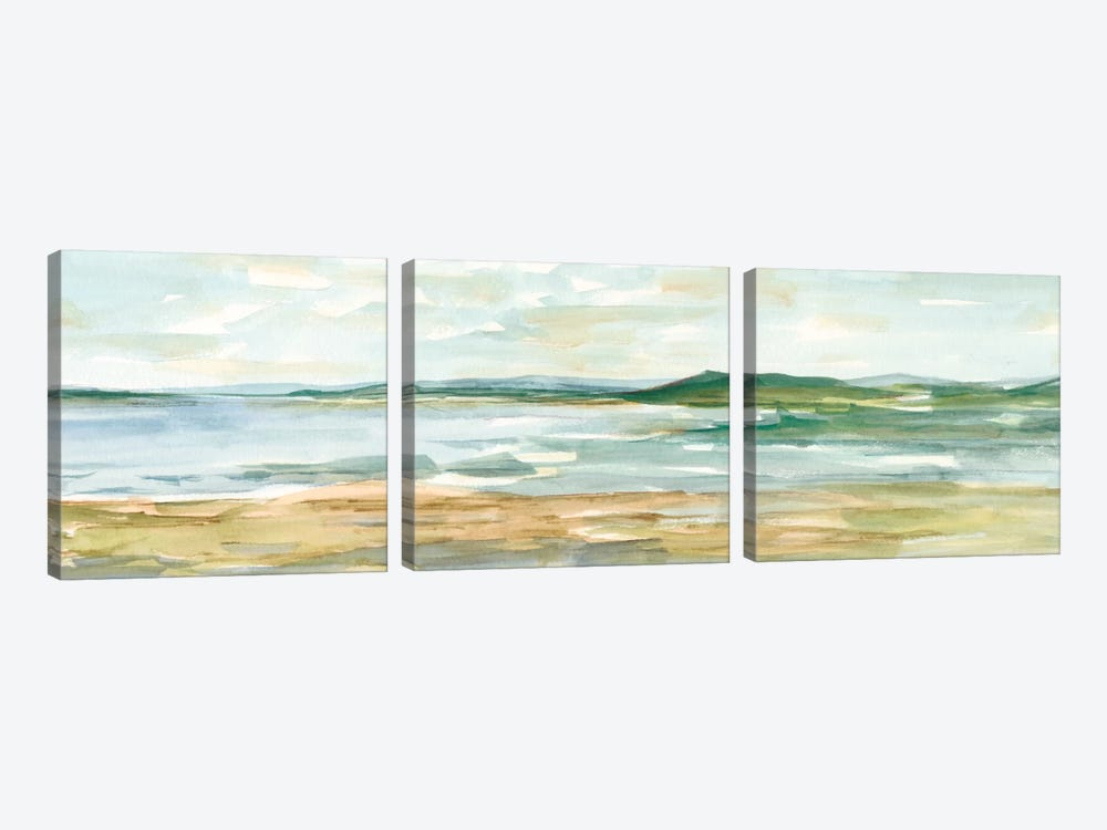 Panoramic Seascape I by Ethan Harper 3-piece Canvas Wall Art