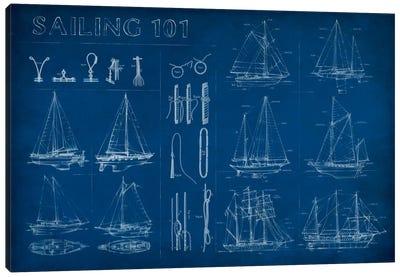 Sailing Infograph Canvas Art Print