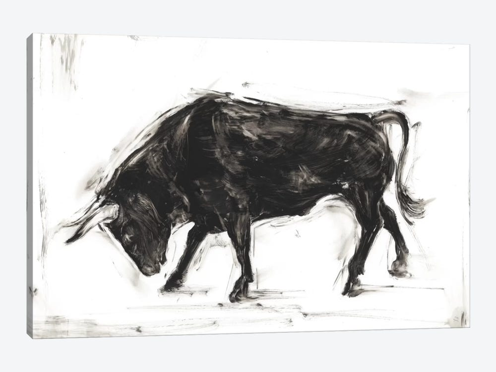 Toro I by Ethan Harper 1-piece Canvas Print