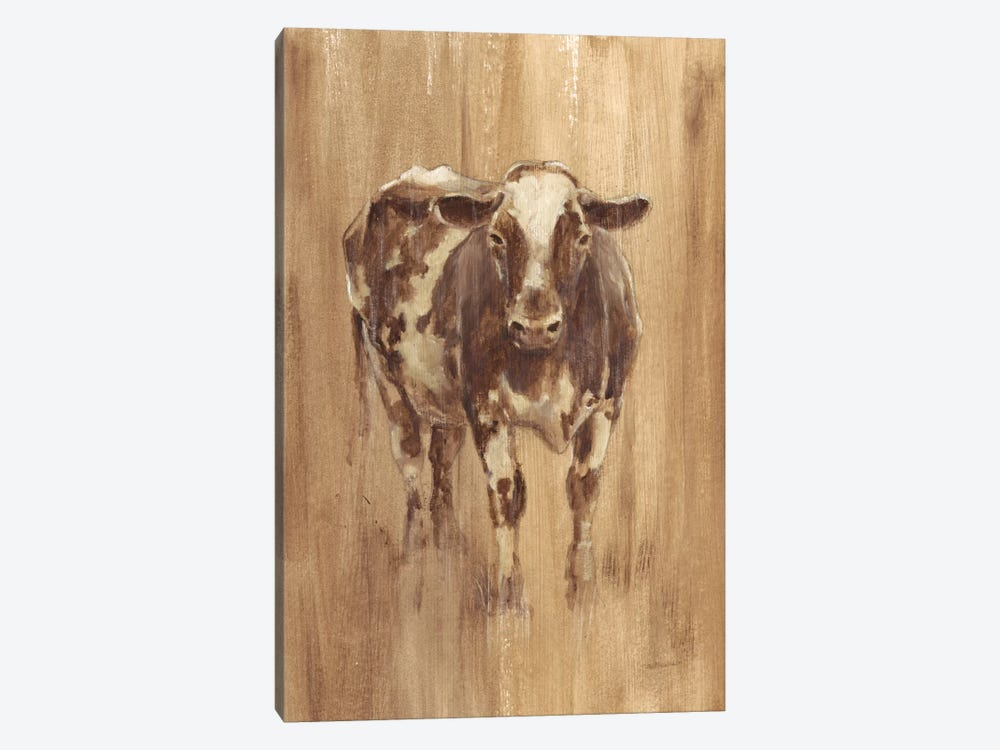 Wood Panel Cow by Ethan Harper 1-piece Canvas Art Print