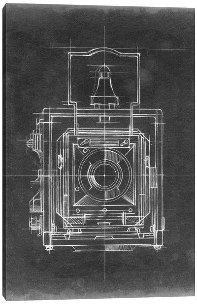 Camera Blueprints I Canvas Print #EHA29