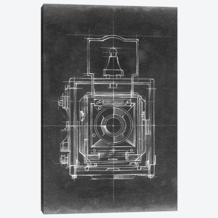 Camera Blueprints I Canvas Print #EHA29} by Ethan Harper Canvas Print