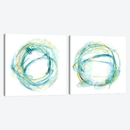 Orbital Path Diptych Canvas Print Set #EHA2HSET001} by Ethan Harper Canvas Art