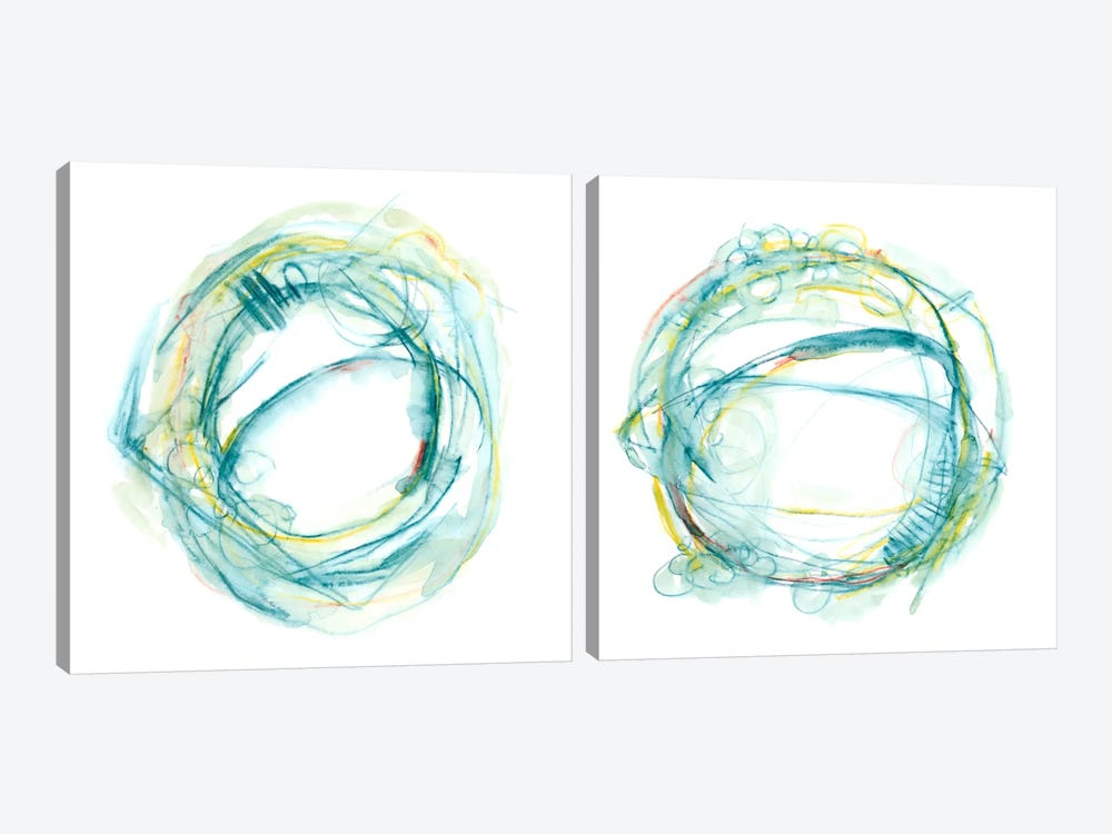 Orbital Path Diptych by Ethan Harper 2-piece Canvas Print