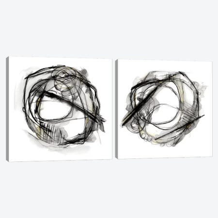 Bumble Bee Flight Diptych Canvas Print Set #EHA2HSET002} by Ethan Harper Canvas Art
