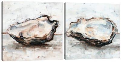 Oyster Study Diptych Canvas Art Print