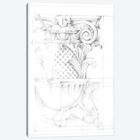 Capital Schematic I Canvas Print #EHA302} by Ethan Harper Canvas Art Print