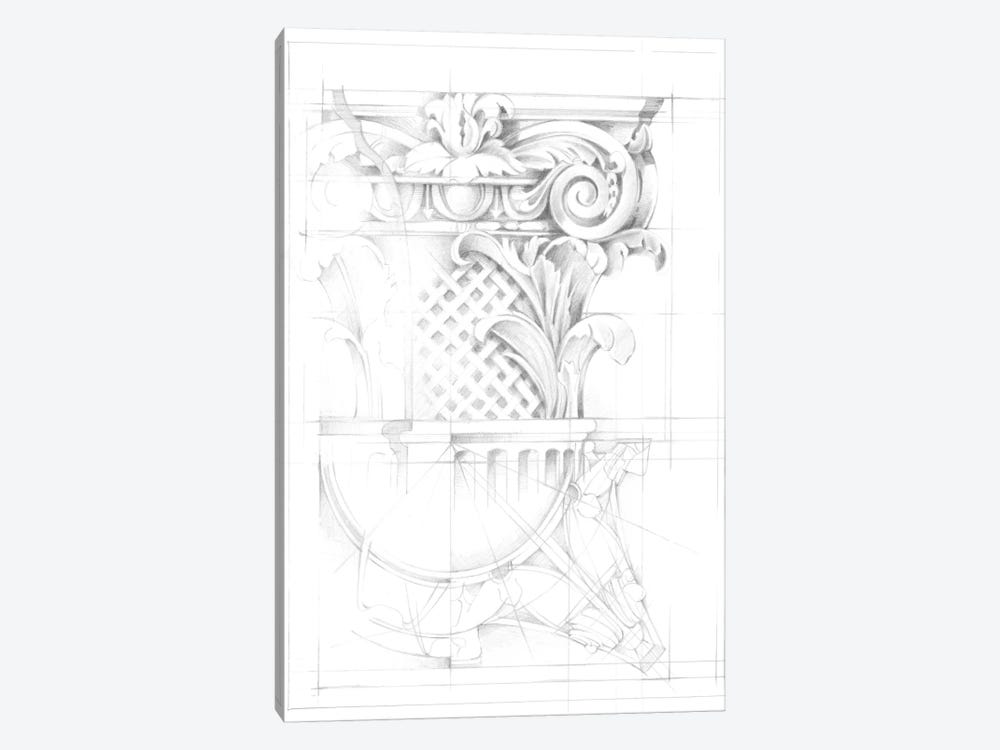 Capital Schematic I by Ethan Harper 1-piece Canvas Print
