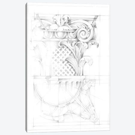 Capital Schematic I Canvas Print #EHA302} by Ethan Harper Canvas Art Print