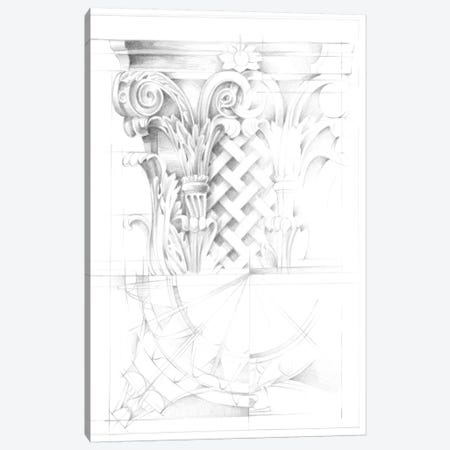 Capital Schematic II Canvas Print #EHA303} by Ethan Harper Art Print
