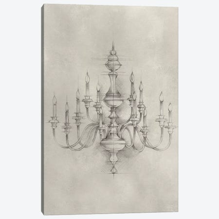 Chandelier Schematic I Canvas Print #EHA304} by Ethan Harper Canvas Artwork