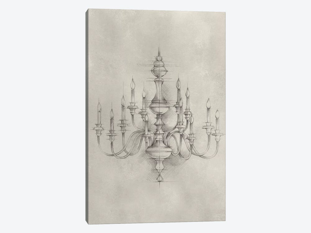 Chandelier schematic i canvas art by ethan harper icanvas chandelier schematic i by ethan harper 1 piece canvas print aloadofball Gallery