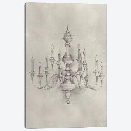 Chandelier Schematic I Canvas Print #EHA304} by Ethan Harper Canvas Artwork
