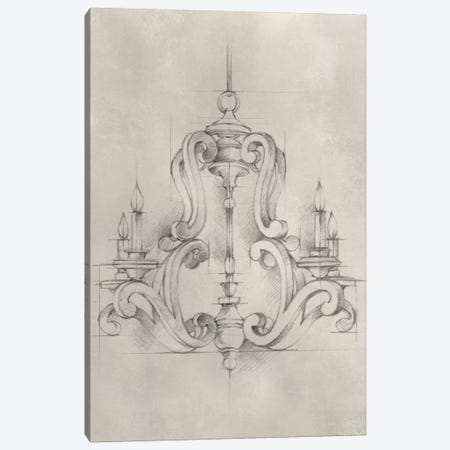 Chandelier Schematic II Canvas Print #EHA305} by Ethan Harper Canvas Wall Art