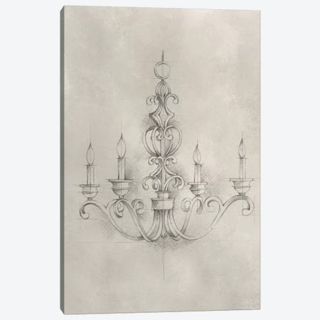 Chandelier Schematic III Canvas Print #EHA306} by Ethan Harper Canvas Wall Art