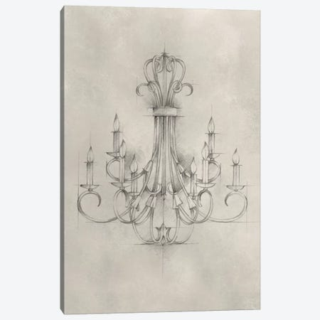 Chandelier Schematic IV Canvas Print #EHA307} by Ethan Harper Canvas Art