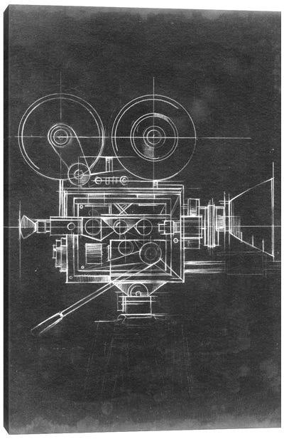 Camera Blueprints II Canvas Print #EHA30