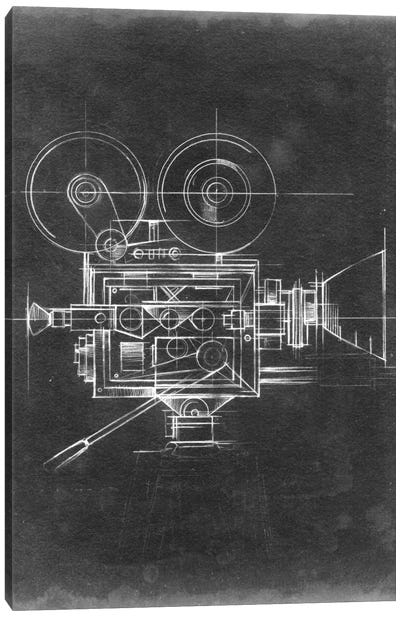 Camera Blueprints II Canvas Art Print