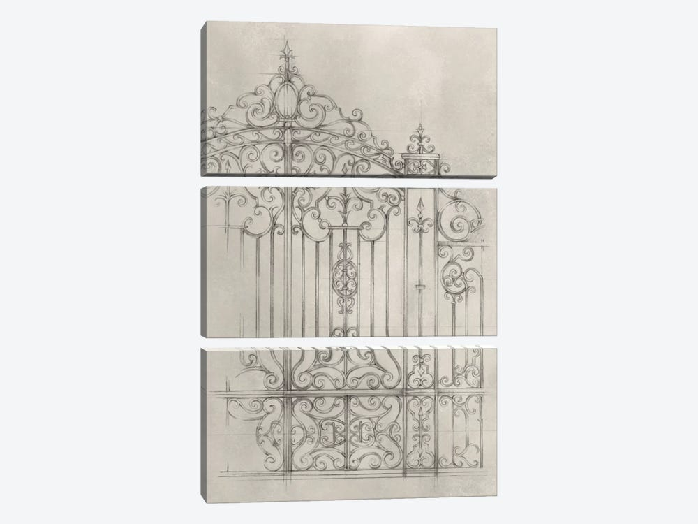 Iron Gate Design II by Ethan Harper 3-piece Canvas Art Print