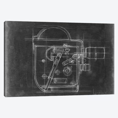 Camera Blueprints III Canvas Print #EHA31} by Ethan Harper Canvas Artwork
