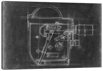 Camera Blueprints III Canvas Art Print