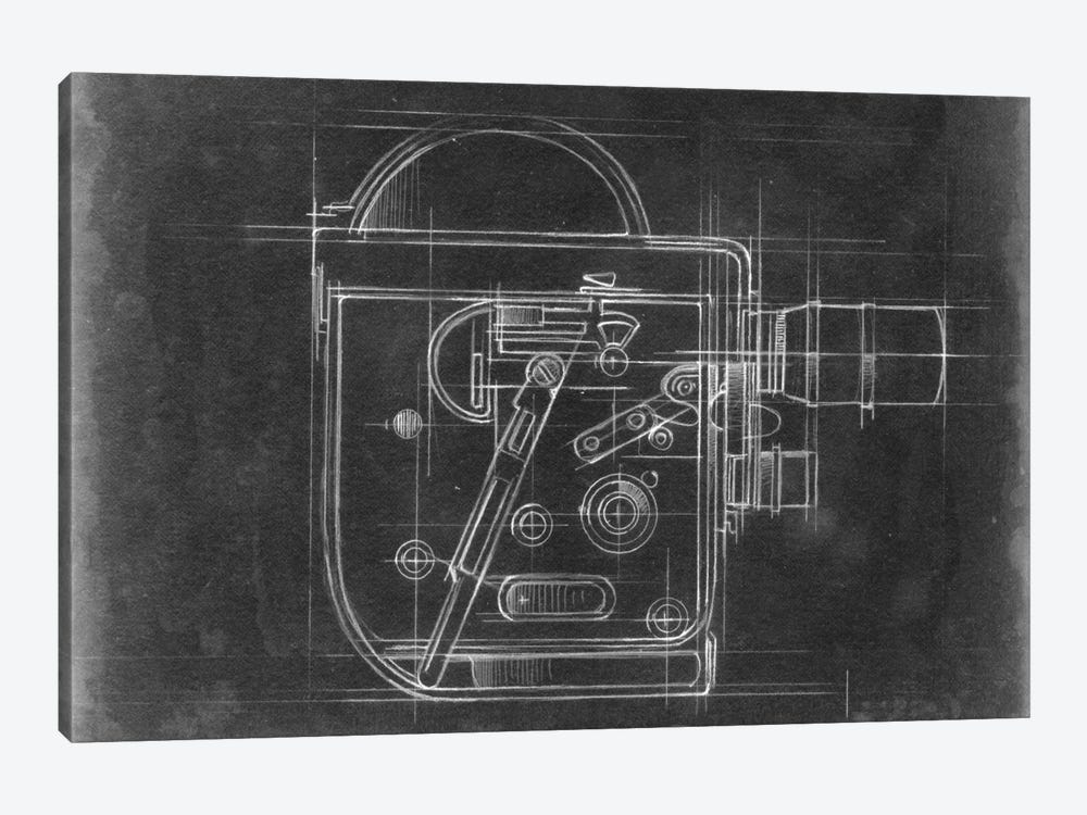 Camera Blueprints III by Ethan Harper 1-piece Canvas Artwork