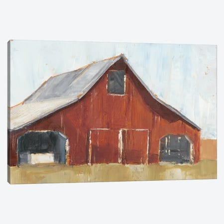 Rustic Red Barn I Canvas Print #EHA324} by Ethan Harper Canvas Art