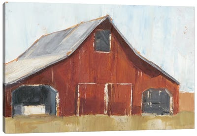 Rustic Red Barn I Canvas Art Print