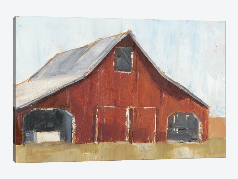Rustic Red Barn I by Ethan Harper 1-piece Canvas Print