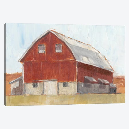 Rustic Red Barn II Canvas Print #EHA325} by Ethan Harper Canvas Artwork