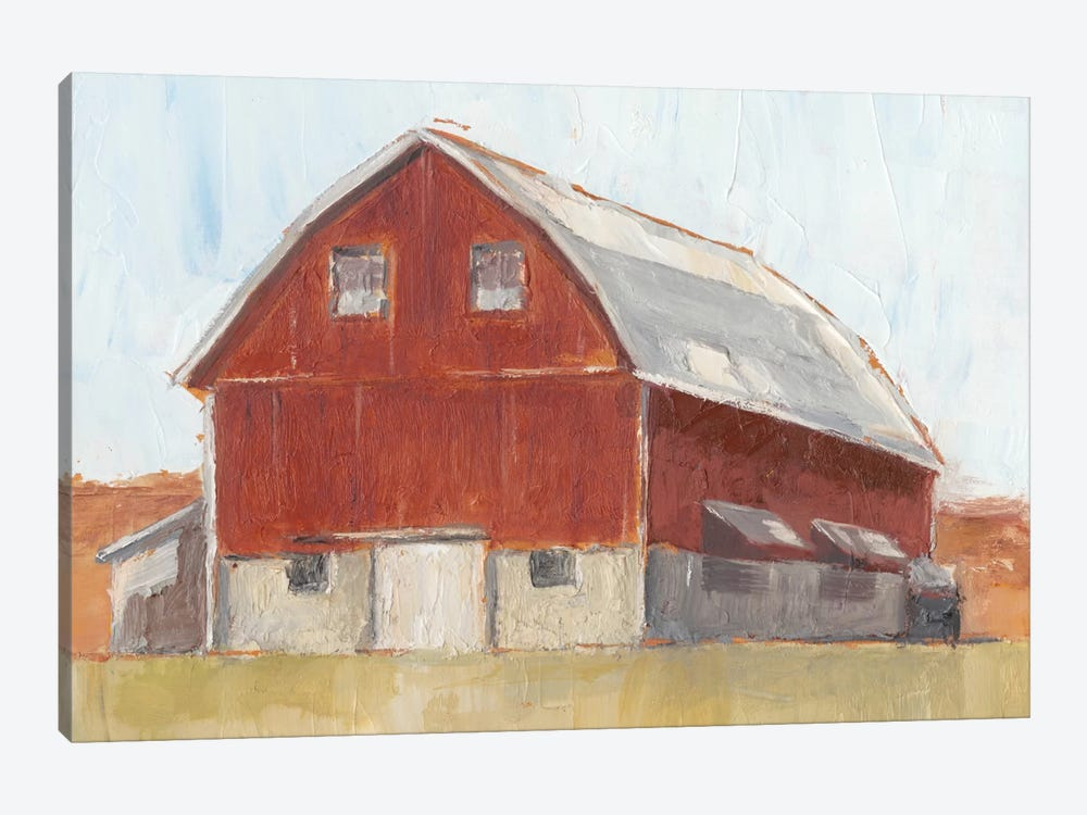 Rustic Red Barn II by Ethan Harper 1-piece Canvas Wall Art