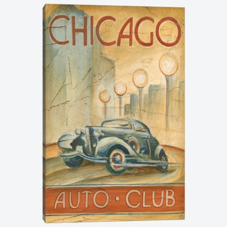 Chicago Auto Club Canvas Print #EHA32} by Ethan Harper Canvas Art