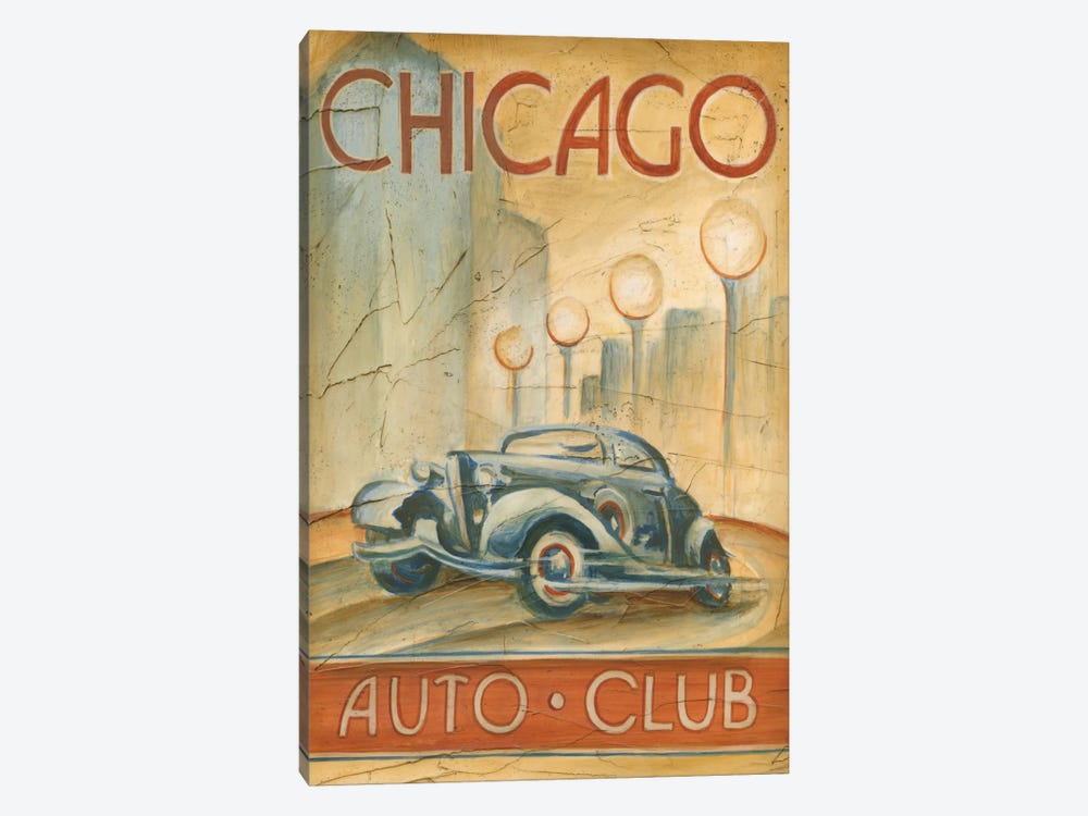 Chicago Auto Club by Ethan Harper 1-piece Canvas Art Print