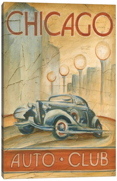 Chicago Auto Club Canvas Art Print