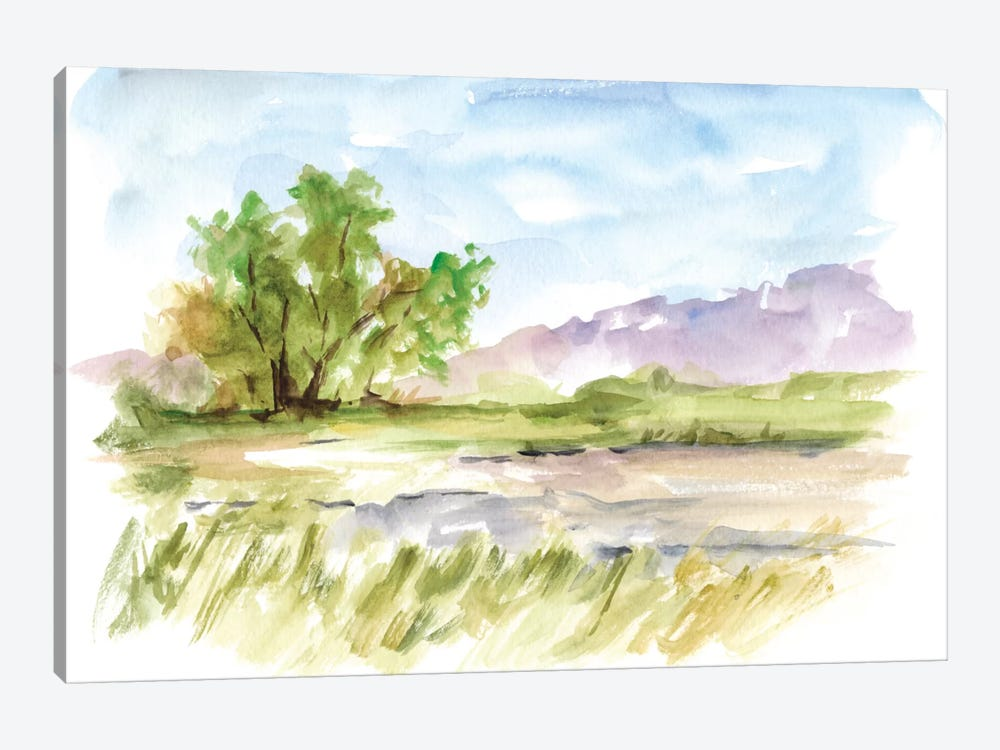 Vibrant Watercolor II by Ethan Harper 1-piece Canvas Print