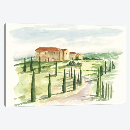 Watercolor Tuscan Villa I Canvas Print #EHA334} by Ethan Harper Canvas Print