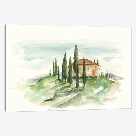 Watercolor Tuscan Villa II Canvas Print #EHA335} by Ethan Harper Canvas Art Print