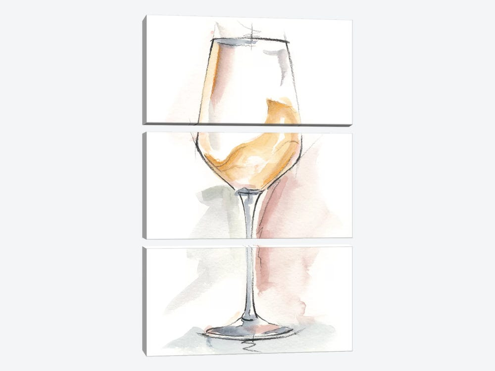 Wine Glass Study I by Ethan Harper 3-piece Canvas Wall Art