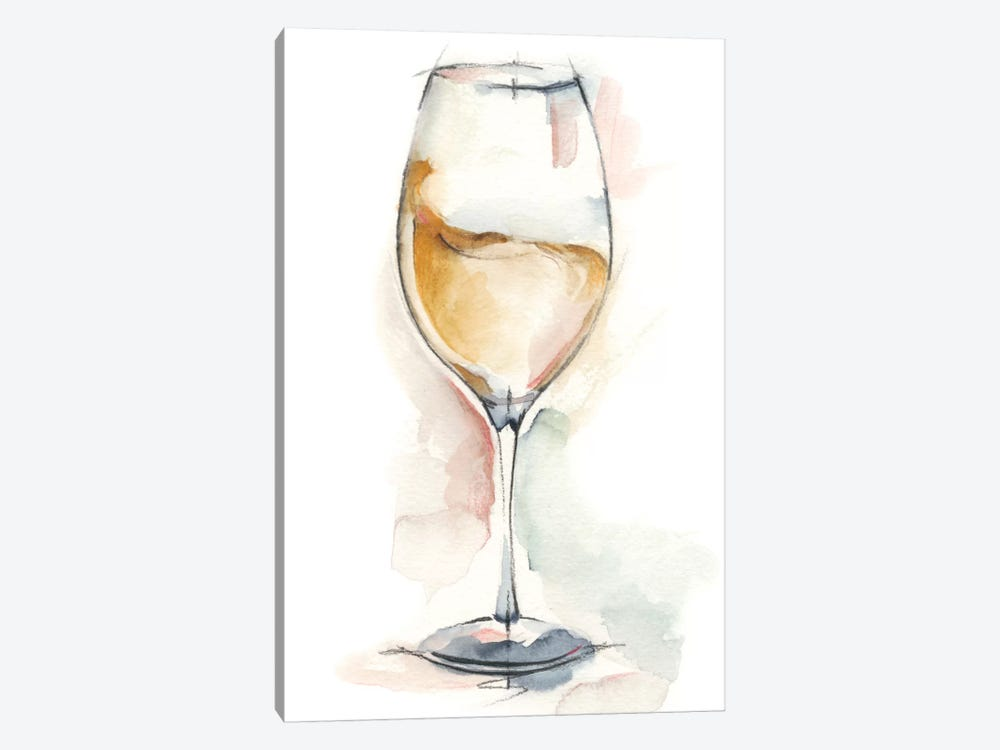 Wine Glass Study II by Ethan Harper 1-piece Canvas Print