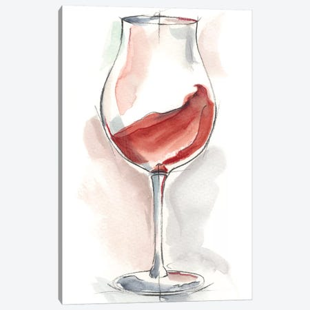 Wine Glass Study III Canvas Print #EHA338} by Ethan Harper Canvas Wall Art