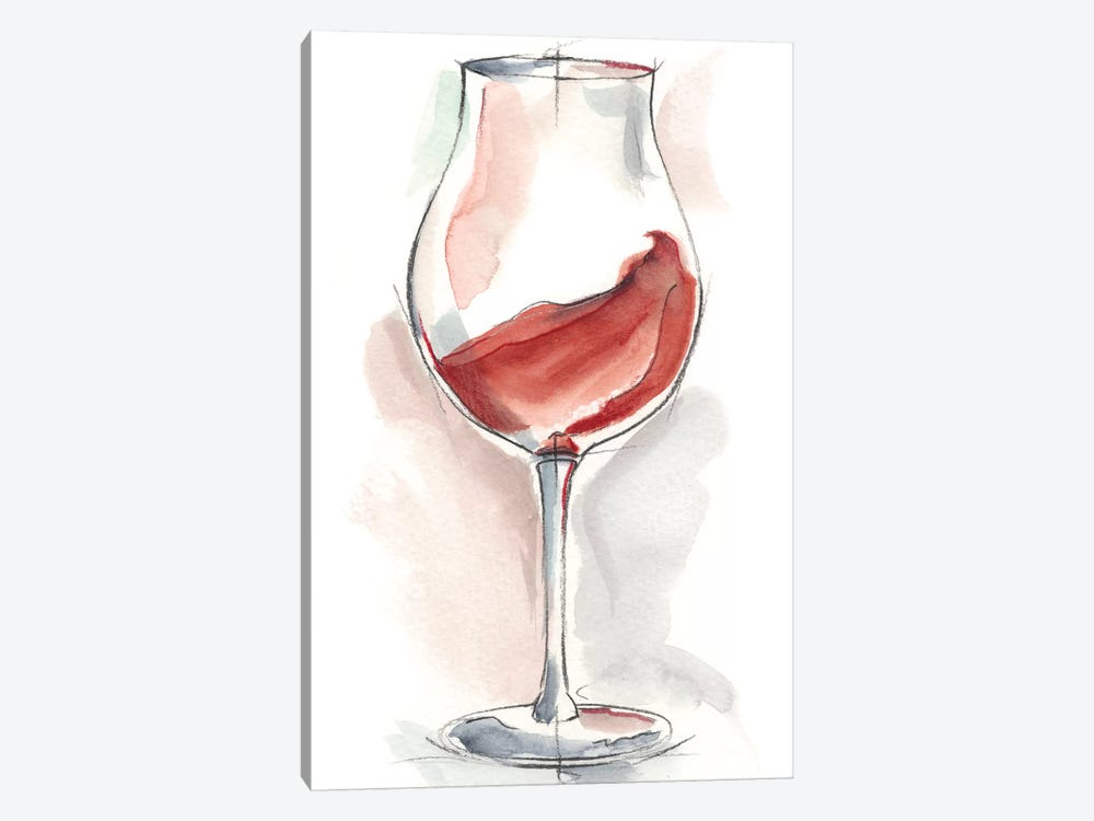 Wine Glass Study III by Ethan Harper 1-piece Canvas Art