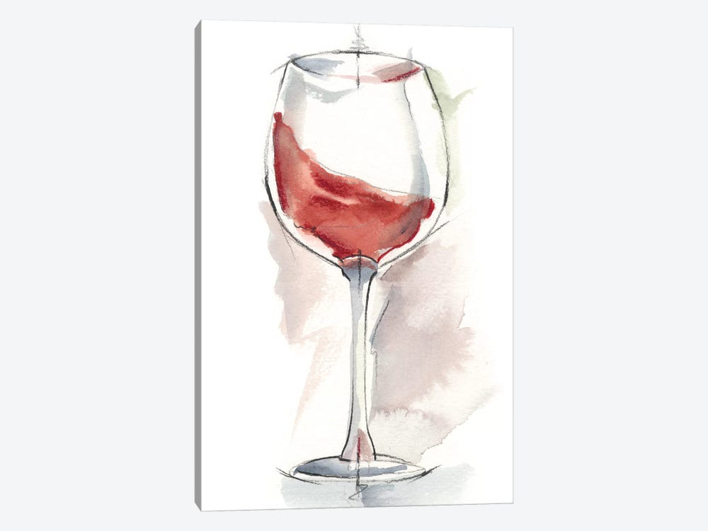 Wine Glass Study IV by Ethan Harper 1-piece Canvas Print