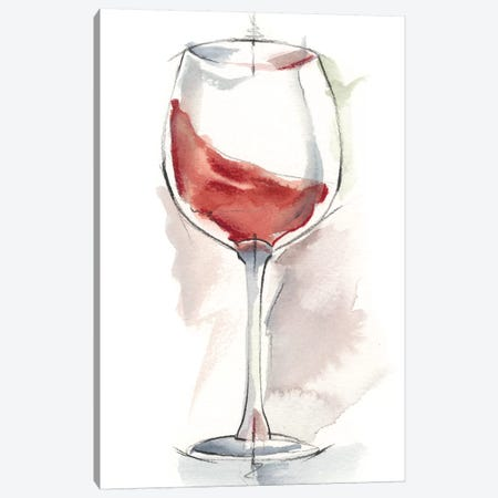 Wine Glass Study IV Canvas Print #EHA339} by Ethan Harper Canvas Art