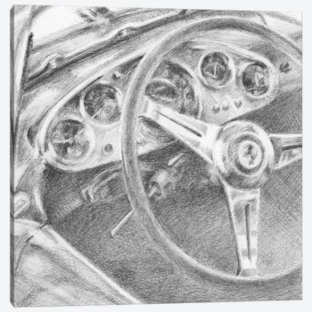 Behind The Wheel I Canvas Print #EHA341} by Ethan Harper Art Print